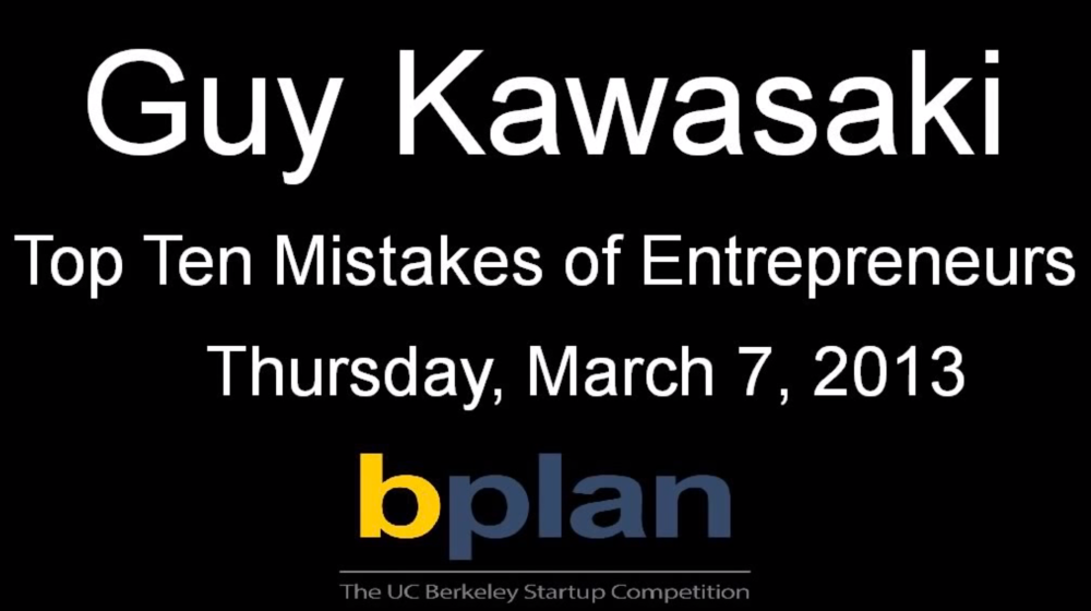 Top Ten Mistakes of Entrepreneurs
